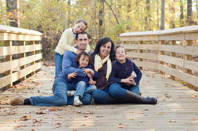 best places to have your family portraits done in the Raleigh Cary Apex area.  This is Seagroves Farm Park, a beautiful spot for family portraits in the fall.