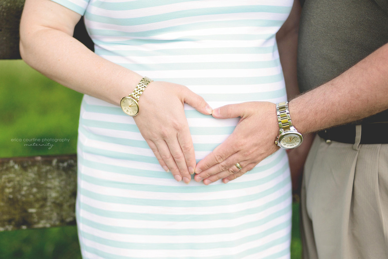 A maternity portrait session in holly springs at sugg farm outside of raleigh nc.