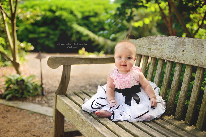 raleigh baby and newborn photography a sweet baby girl at jc raulston arboretum