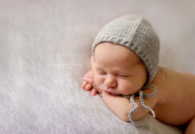 Simple and beautiful newborn baby portraits provided in your own home by Holly Springs area photographer.