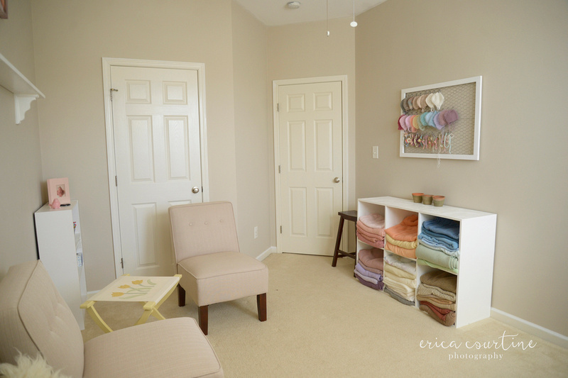 A newborn photographer shows photos of the new studio located in Fuquay varina outside of Raleigh nc.