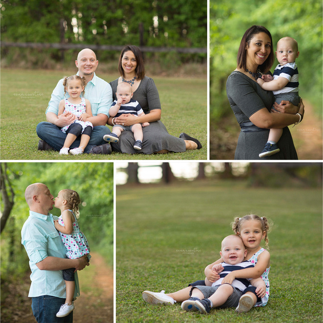 A family photo session at Sugg Farm in Holly Springs, just outside of Raleigh NC.