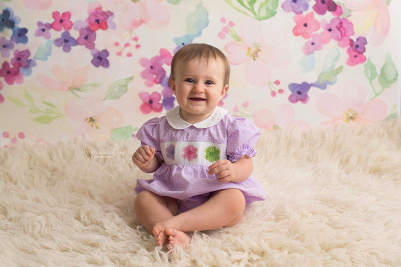 Milestone baby mini-sessions at a studio in Fuquay Varina, outside of Raleigh NC.