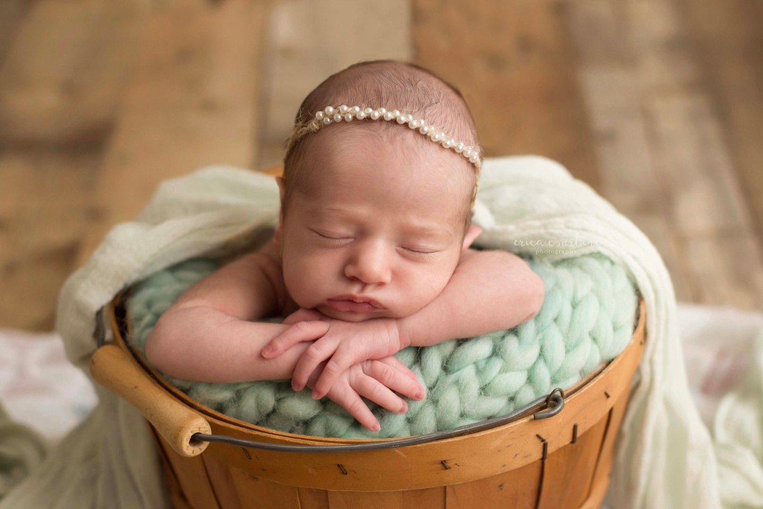 Erica Courtine Photography newborn photo session at a studio in Fuquay Varina, NC.