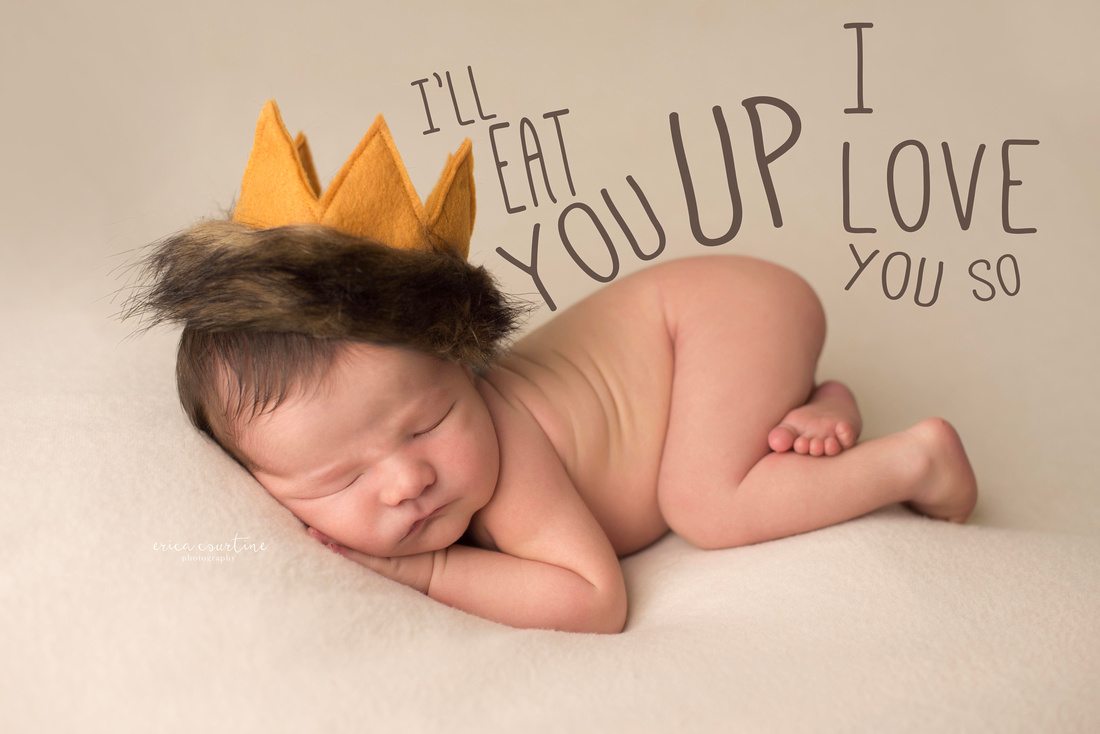 Raleigh NC newborn photography where the wild things are theme
