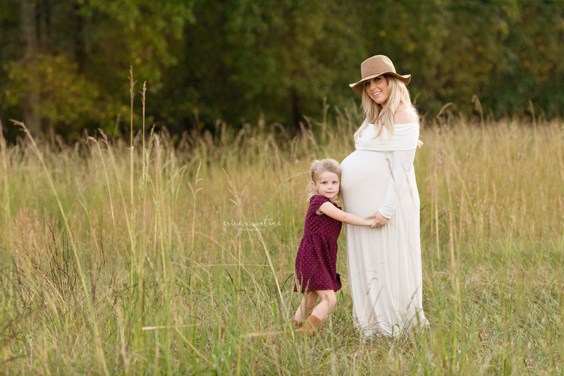 outdoor farm family maternity pictures in holly springs near raleigh nc.