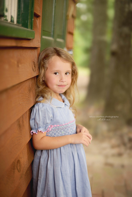 A little girl during an outdoor photography session in fuquay varina nc.