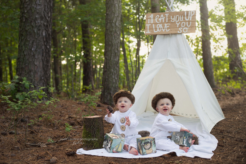 Where the Wild Things Are cake smash session in Holly Springs NC Erica Courtine Photography