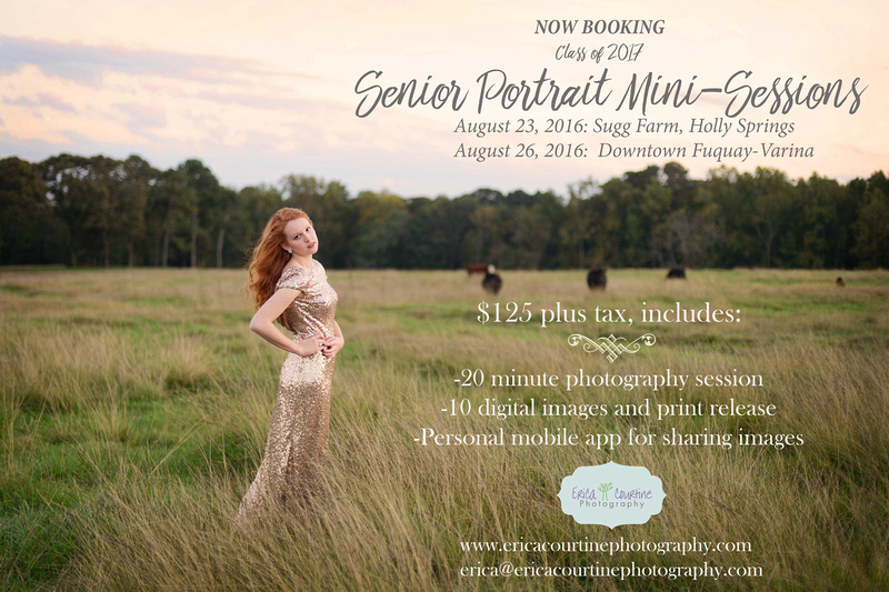 senior portrait mini-sessions in raleigh fuquay varina holly springs nc 2016