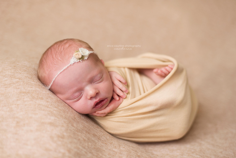 raleigh fuquay varina holly springs nc newborn photography session for a christmas baby girl.