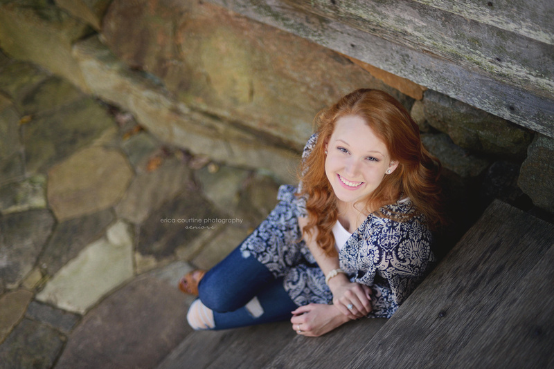 Raleigh NC family photographer photographs a senior at Yates Mill County Park.