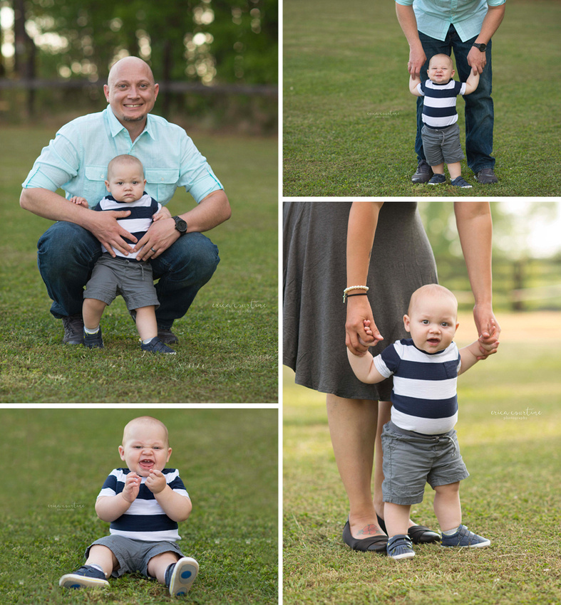 A Raleigh NC family photographer shares a photo session at Sugg Farm in Holly Springs.