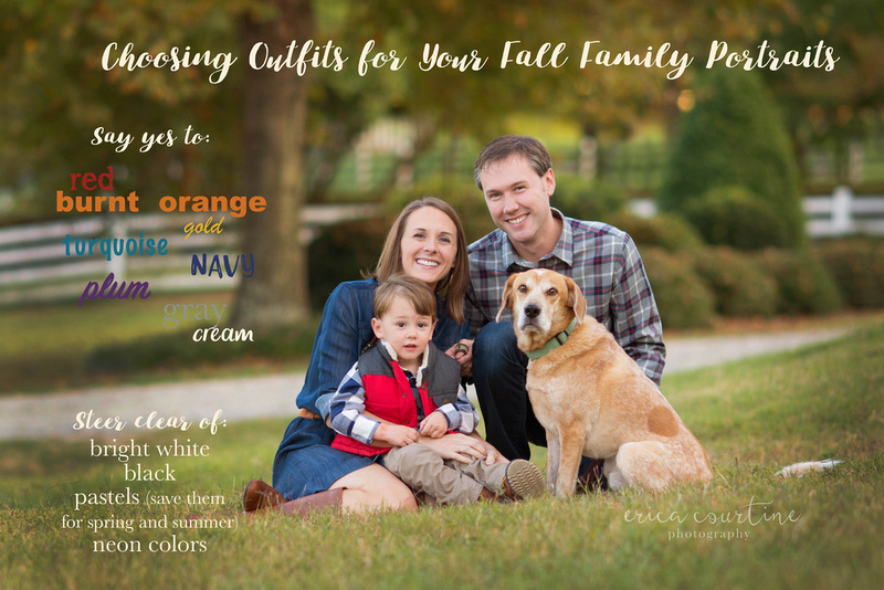 Raleigh NC family photographer colors that are good for family pictures