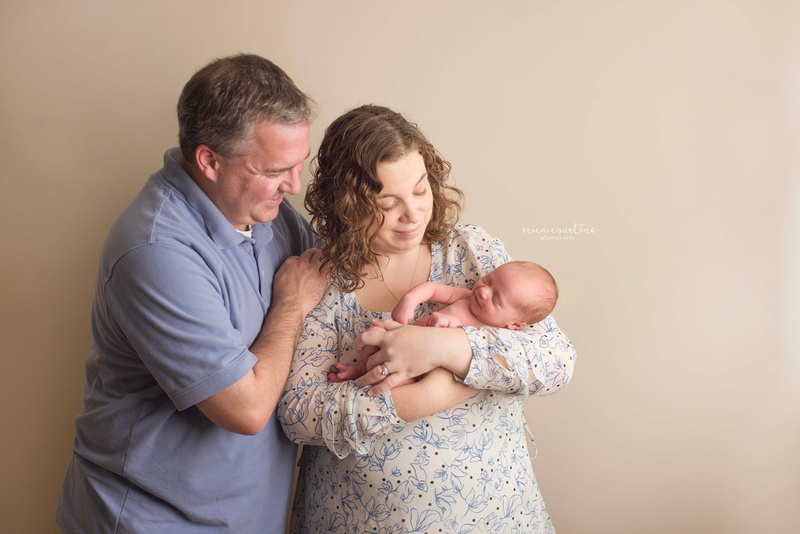 A newborn photoshoot in fuquay varina outside of raleigh nc