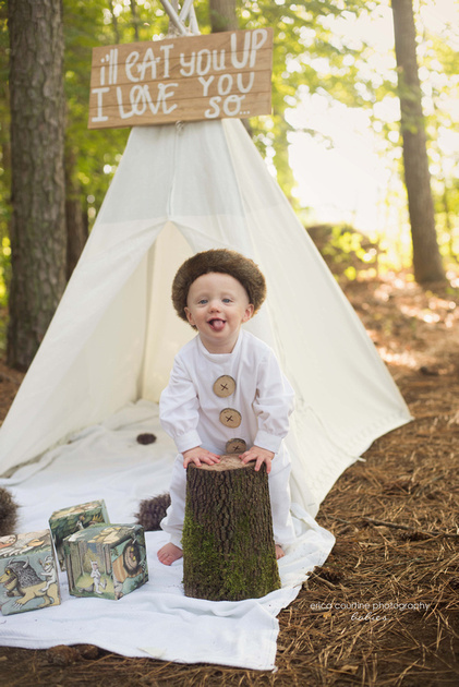 Fuquay Varina NC baby photographer shares a first birthday session from Sugg Farm in Holly Springs.