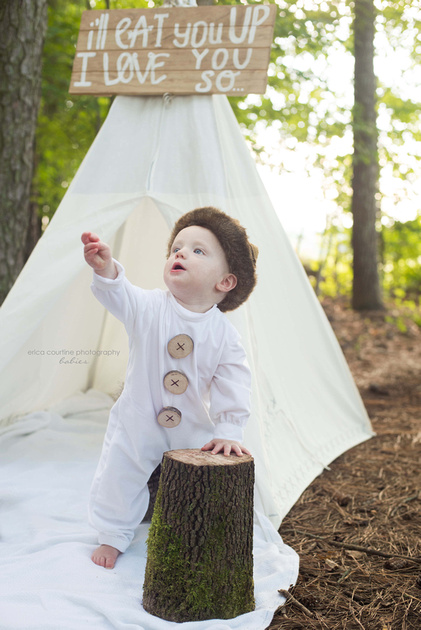 Where the Wild Things Are cake smash first birthday session Fuquay Varina NC