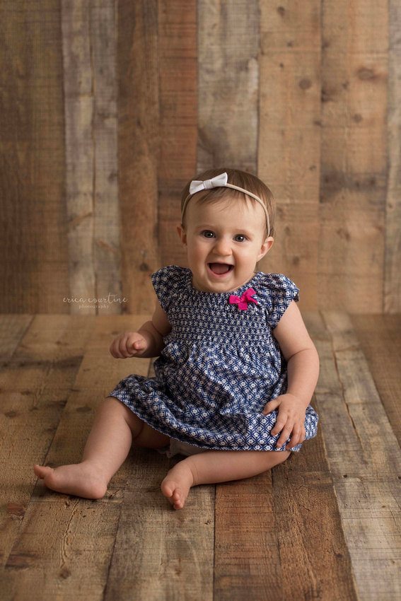 9 month old during a baby mini-session with Erica Courtine Photography, Raleigh, NC.