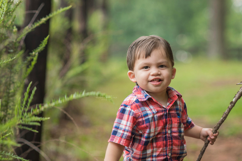 A one year old's first birthday photography session in Holly Springs, NC.